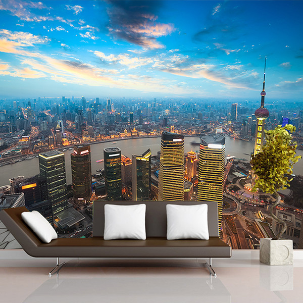 3d Wallpaper Home Improvement TV sofa background bedding room wall mural China City large Home Decor wallpaper