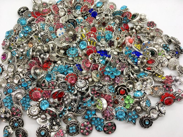 top popular Wholesale 50pcs Lot assorted Interchangeable Metal 12mm 18mm snaps button Clasps Charm Fit For Diy Ginger Snaps Jewelry 2021