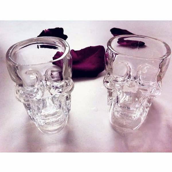 جودة عالية الجمجمة رئيس الفودكا ويسكي أطلق عليه الرصاص زجاج كأس الشرب وير شريط المنزل