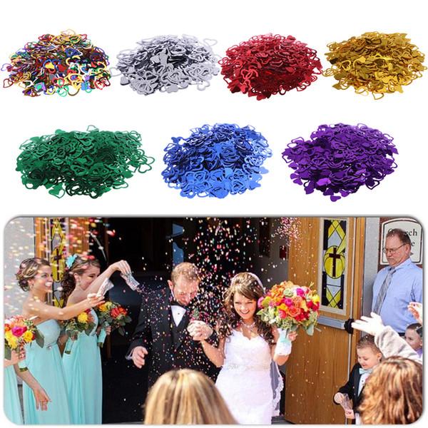 10 pacotes Multi Color 7mm / 12mm Espumante Amor Festa De Casamento Coração Confetti Decoração de Mesa Suprimentos Decorativos Dia Dos Namorados