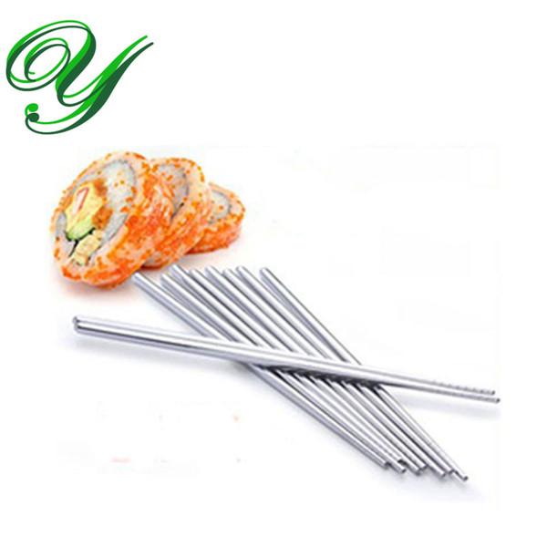 Silver Chopsticks Wedding Chopstick dinnerware favor gift 22cm non-skid China Crafts Flatware Cutlery Set 10 pairs paper card packing