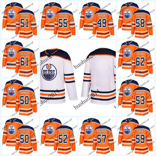Gençlik Edmonton Oilers 2017-2018 Sezon Formaları 49 Tyler Benson 50 Jonas Gustavsson 50 Stuart Skinner 51 Brian Ferlin Hokeyi Forması
