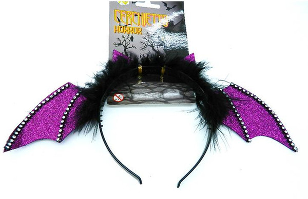 Party top hat halloween easter Fancy Dress bat Bopper headband children adults Christmas cosplay angel devil fluffy feather cap