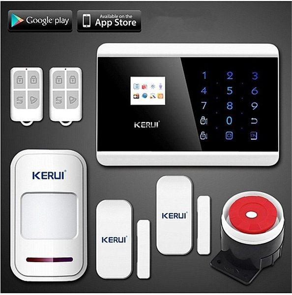 LS111- NEW KERUI Wireless/Wired Touch Screen Keypad panel LCD display GSM SMS PSTN Home Security Burglar Voice Smart Alarm System
