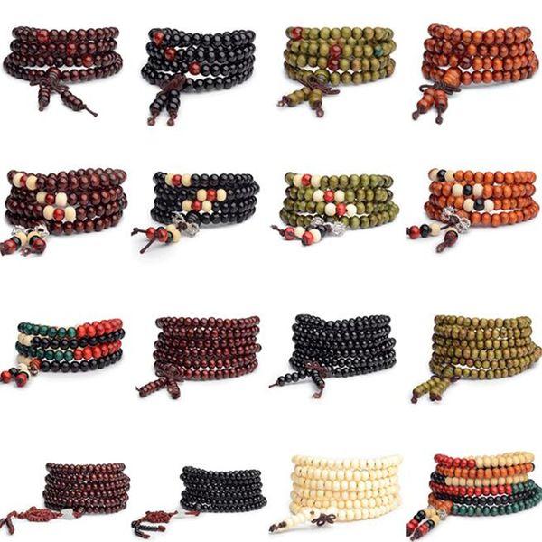 Man beaded bracelet 6mm natural red andalwood dhl prayer japa ro ary mala tibetan buddhi t meditation wood ro ary beaded bracelet