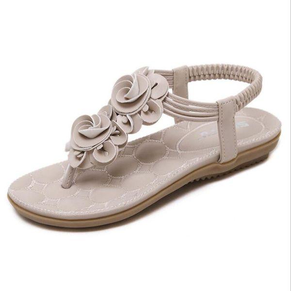 bee9eb9da50178 2017 New Arrival Sweet Women Sandals Flower Flats Bohemia Female Summer  Style Shoes Women Open Toe Plus Size 35-41
