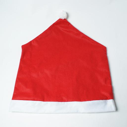 Santa Hat Chair Covers Dinner Decor Cap Claus Clause Gift for Christmas Xmas Decoration Home Party Festive Red Decorative Hat Hotel