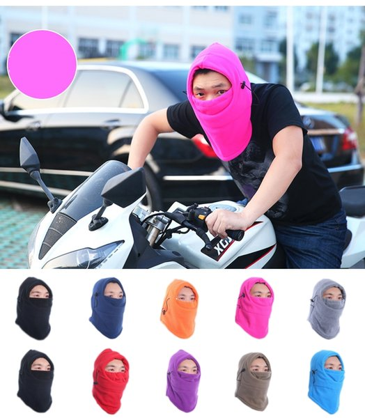 Hot sales Solid Color Thermal Fleece Beanies Hats Anti-dust Mask for Men Motorcycle Bike Ski Snowboard