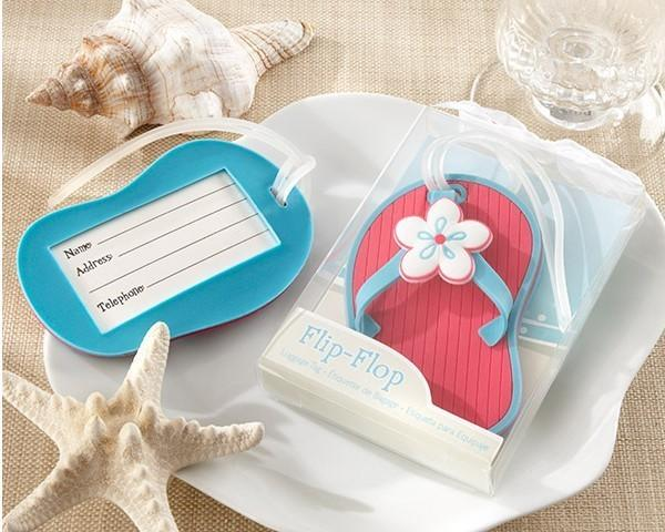 DHL 2017 free shipping 100pcs/lot Flip flop luggage tag beach style wedding favor bridal shower gifts