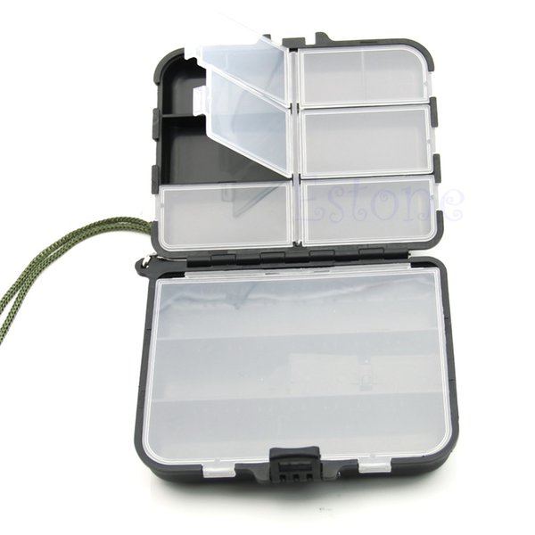 Wholesale- Lure Spoon Hook Bait 9 Compartment Fly Fishing Holder Storage Case Tackle Box