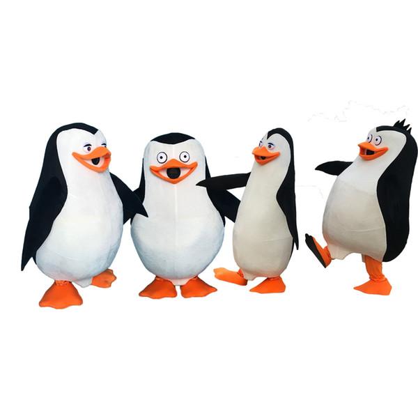 Pinguine von Madagaskar Pinguin Maskottchen Kostüm Kostüm Erwachsenengröße