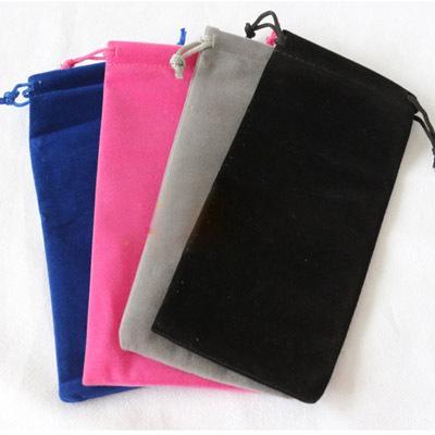 Velvet cordon sacs-cadeaux 8x17cm (3