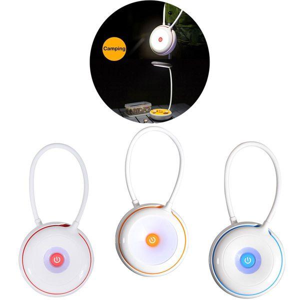 Portátil LED Luz Dobrável Lâmpada de Mesa 3-Nível de Brilho Ajustável Controle de Toque USB Recarregável Luz Da Noite para a Cabeceira, Leitura, crianças