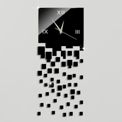 Wholesale- Free Shipping Hot 3D Luxury DIY Wall Clock Acrylic Mirror Stickers Home Decoration Art Wall Watches