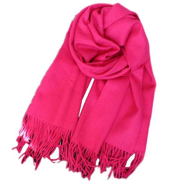 2018 scialle sciarpa di fascia alta consigliato di pura lana doppio ispessimento 70 * 200cm cura caldo coperta di lana rosso rosa verde nero