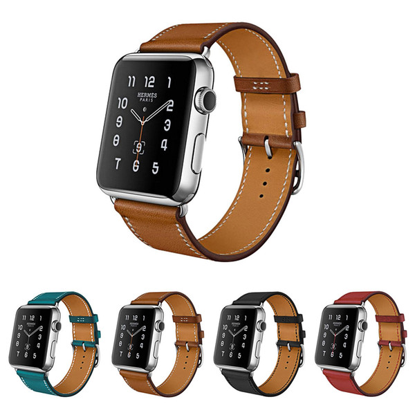 Good Quality Genuine Leather Straps For Apple Watch Band Sport 38mm 42 Series 1 Series 2