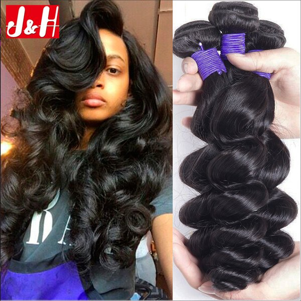 Unprocessed Virgin Wavy Loose Curly Wavy Human Hair Extensions Curly