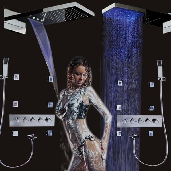 Soffione doccia a LED di lusso cambia colore a cascata Cascata 22