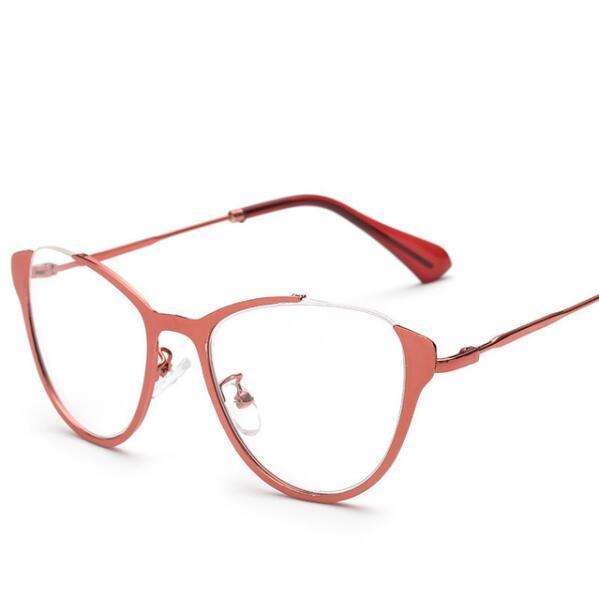 b8612ffa1ae40 2018 Wholesale Cat S Eye Myopia Glasses Frame Vintage Women Men ...