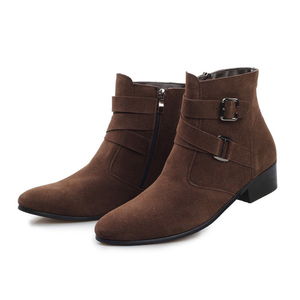 Cheap Wholesale High Quality Men Boots 2015 Winter Boots Zip Ankle