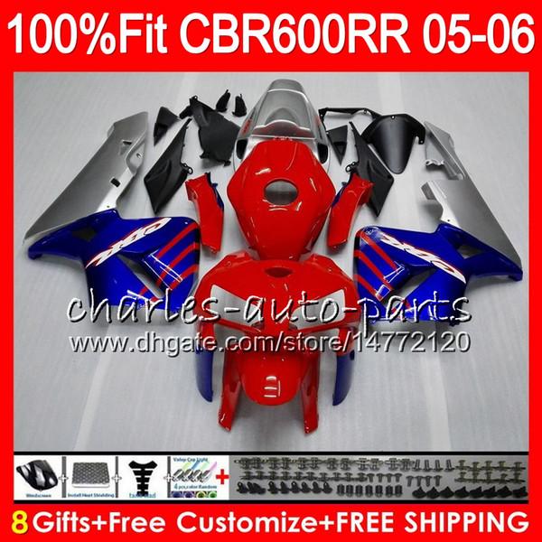 8Gifts 23Colors впрыска для Хонда ЦБР 600 РР CBR600RR 05 06 ЦБ РФ 600RR 03 04 F5 в 44HM24 красный черный CBR600F5 CBR600 РР 2005 2006 обтекатель комплект