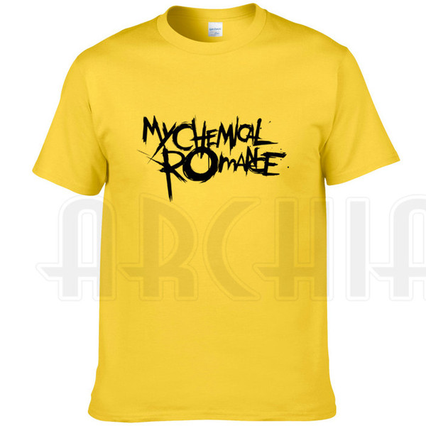 My Chemical Romance T shirt Punk band short sleeve gown Music printing tees Leisure clothing Unisex cotton Tshirt