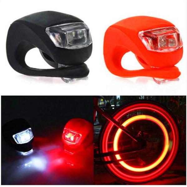 Fahrrad Licht Vorne Und Hinten Silikon Led Fahrrad Licht Wasserdichte Scheinwerfer Rücklicht Nachtfahren Radfahren Sicherheitsbeleuchtung Batterien enthalten