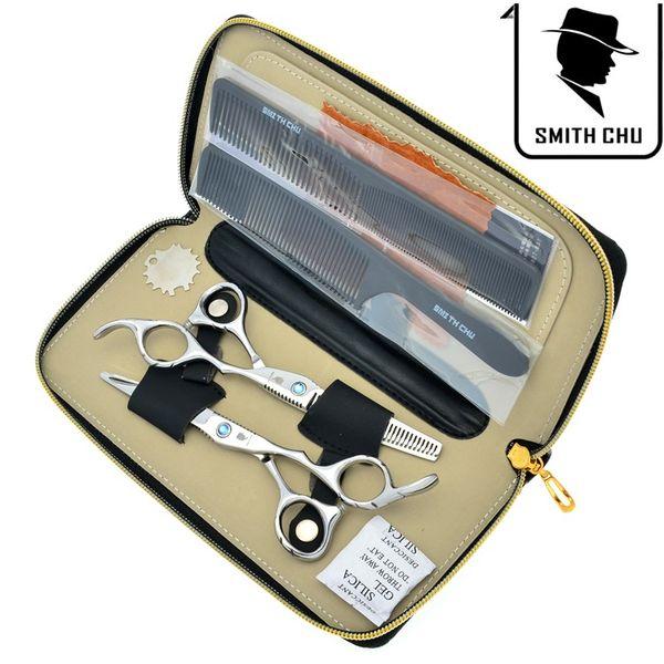 6,0 Zoll SMITH CHU JP440C Beste Haarscheren Friseurscheren Set Professionelle Salon Cutting Effilierschere für Zuhause oder Salon, LZS0077