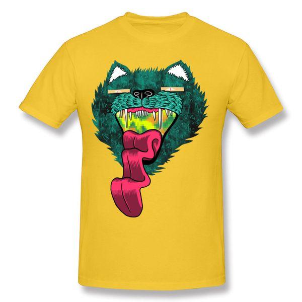 Crazy boy Short Sleeve T Shirts weird Cat strange Rock T Shirts green men short t Shirt animal cartoon men's shirt vintage
