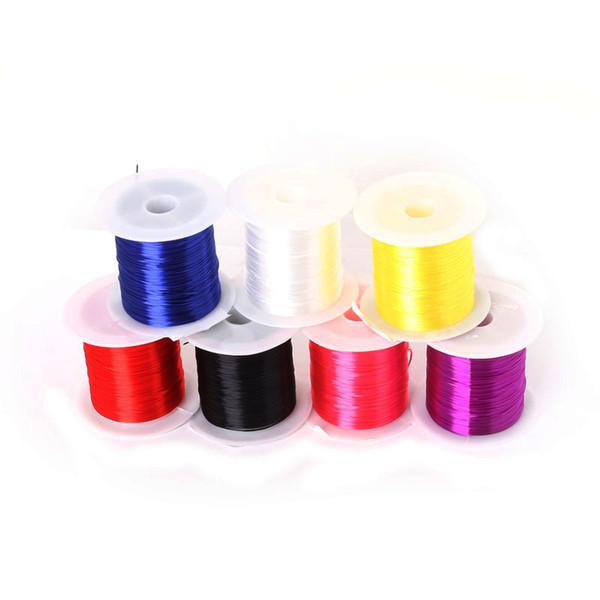 Hohe qualität 8 farbe 8 mt / rolle flachen mischen für kristall elastische schnur perle stretch DIY Armband choker halskette schmuck machen
