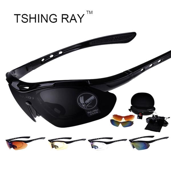 Wholesale- Sport Outdoor Sunglasses With Five Pair Lens Runing Fishing Mountain Men Women Sun Glasses UV400 Male Female Eyewear Oculos