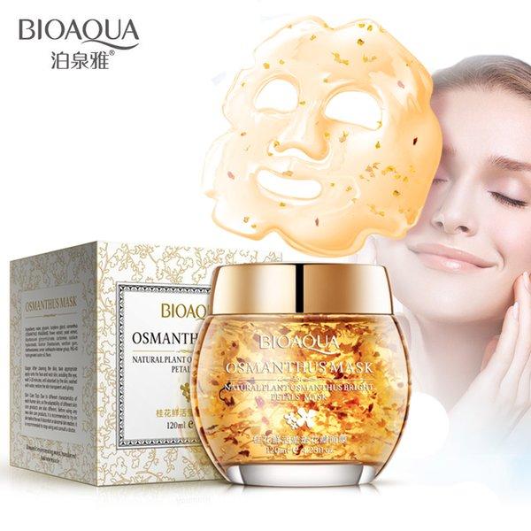 Bioaqua maske bitki osmanthus parlak yaprakları kil uyku nemli akne güzellik yüz maskesi yüz bakımı tratamientos faciales washfree besler maske
