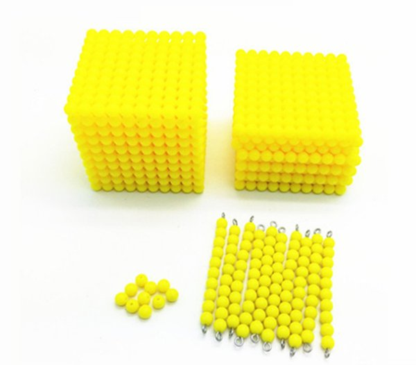 best selling New Baby Toy Montessori Golden Bead 2000+100+10 Math Early Childhood Education Preschool Training Kids Toys Free Shipping