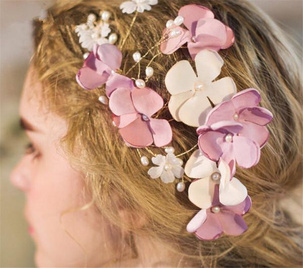 Großhandel Hochzeit Braut Seidenblume Haarschmuck Kopfschmuck ...