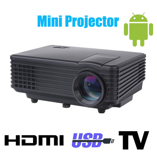 Wholesale-Android 3d led mini projector accessories full hd tv home theater projetor video lcd proyector portable pico ircro pocket beamer