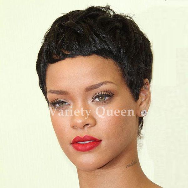 2017 100 human cheap Black wigs With Bangs for black women Hot Selling Brazilian natural hair glueless Lace Wigs bob wigs