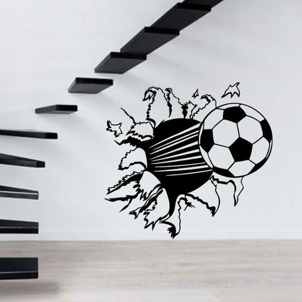 Grosshandel 2017 Heisser Verkauf Personlichkeit Fussball Wandaufkleber Aufkleber Dekor Sport Fussball Junge Kinderzimmer Schlafzimmer Wohnzimmer Wandbild