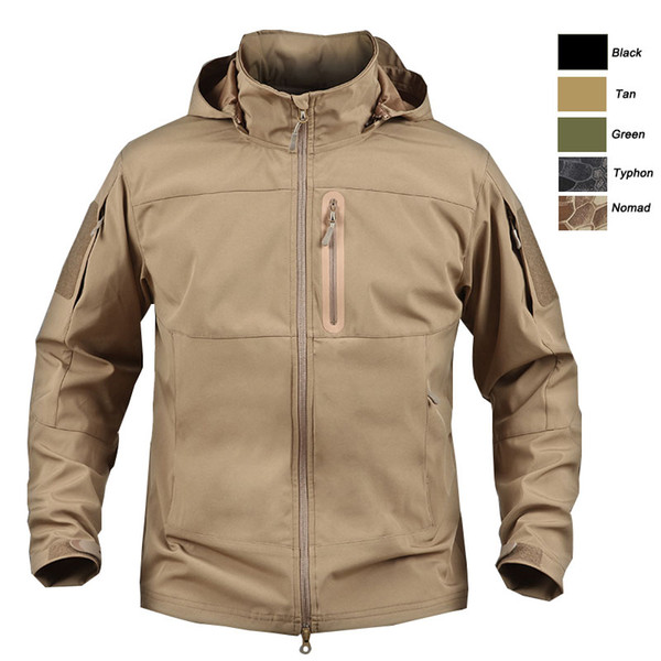 best selling Outdoor Woodland Hunting Shooting Tactical Camo Coat Combat Clothing Camouflage Windbreaker Softshell Outdoor Hoody Jacket P05-207