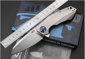 ZeroTelerance ZT Flipper 0456 Coltello pieghevole manico in titanio Cuscinetto a sfera campo di caccia Tasca Survival EDC Strumento 204P coltelli a lama