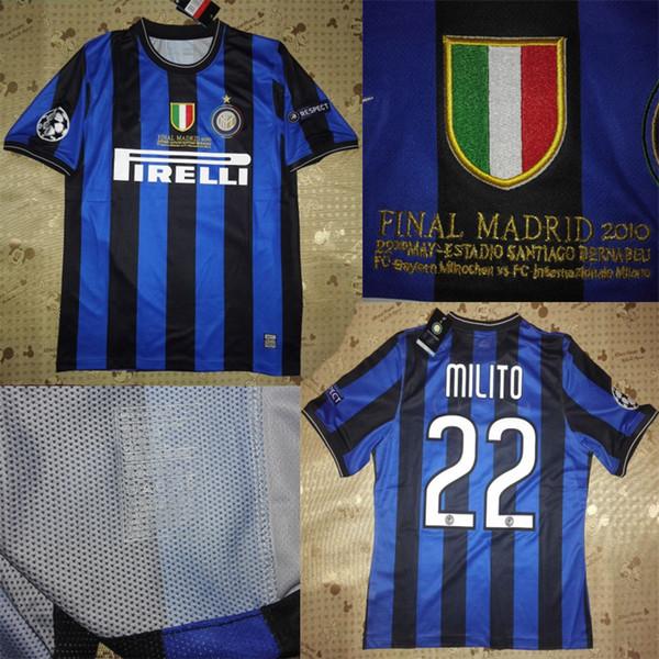 wholesale dealer 13503 dbd76 2019 2010 UCL Final Inter Home Jerseys Vantage Jersey Retor Jerseys Classic  Shirts Cambiasso Samuel Eto'O Lúcio Maicon Zanetti Sneijder Milito From ...