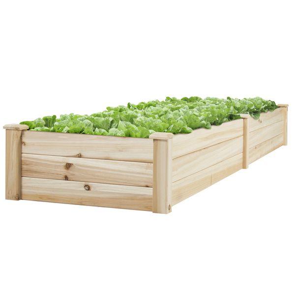 Vegetable Raised Garden Bed Patio Backyard Grow Flowers elevated Planter