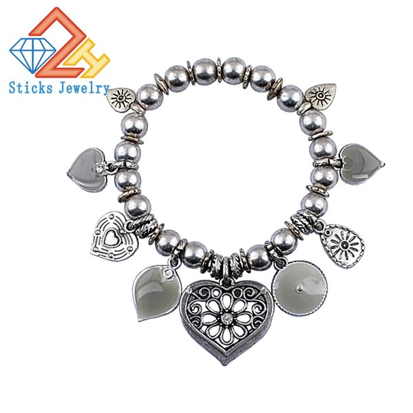 1piece/lot drop shipping ccb bead stretch bracelet Fashion Jewelry Accessories alloy bracelets factory direct, free shipping