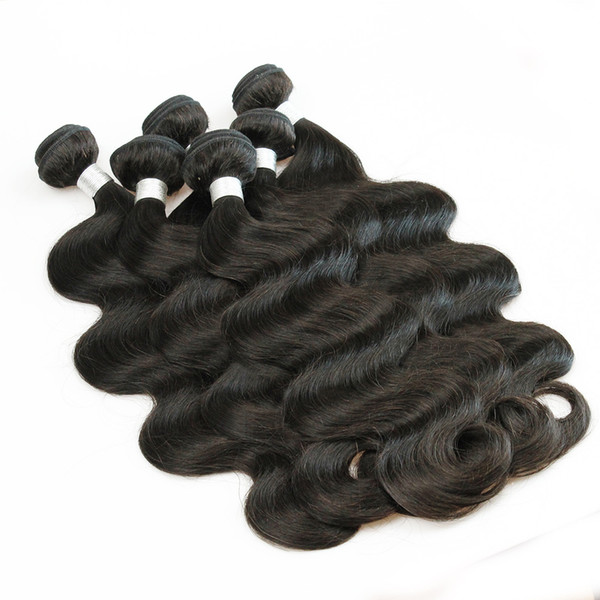 best selling 1kg Wholesale 10 Bundles Raw Virgin Indian Hair Weave Straight Body Deep Curly Natural Brown Color Unprocessed Human Hair Weave 10-26 inch