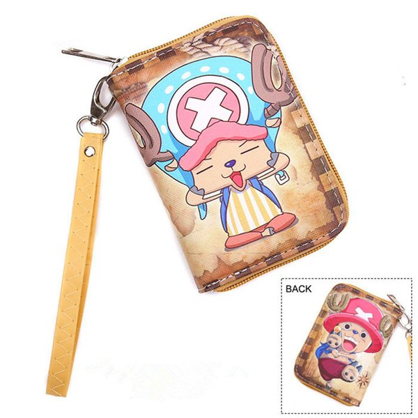 Wholesale- Free Shipping Cartoon Wallet With Coin Pocket and Chain Character One Piece/Death Note/One Pouch Man/ Boy and Girl Wallets