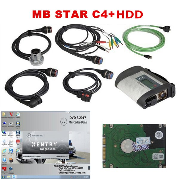 2017.07 Software obd2 Scanner MB STAR C4 For Mercedes Benz C4 Multiplexer with 2017 07 Software HDD obd car Diagnostic tool DHL