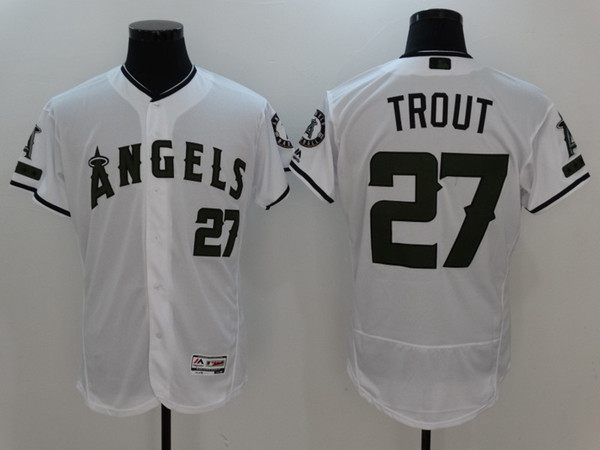 official photos 1807c ae7aa 2019 Embroidered Team Patch Los Angeles Angels Of Anaheim Mike Trout  Majestic White 2017 Memorial Day Authentic Collection Flex Base Jerseys  From ...