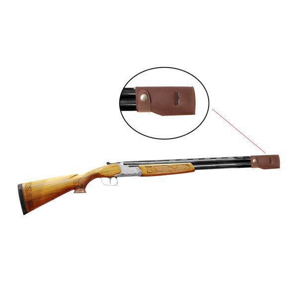 Tourbon Rifle Shotgun Accessories Real Leather Gun Barrel muzzle Case Pouch Muzzle Guard Protectors