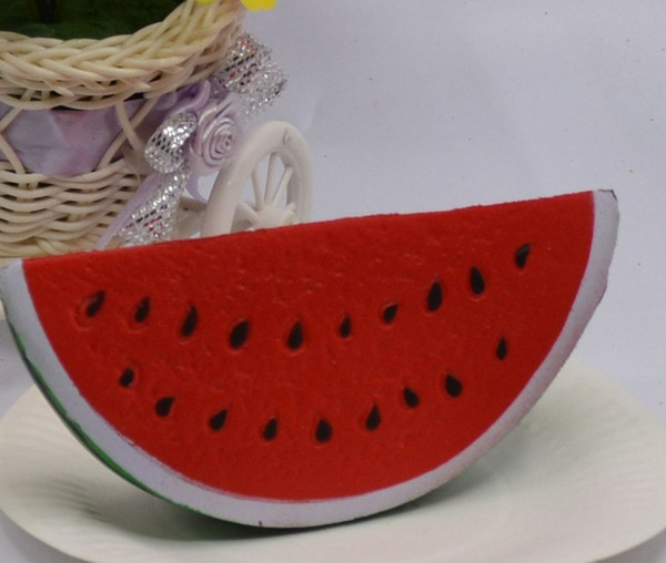 best selling 15cm Hottest Squishy Jumbo Watermelon Fruit Scented Bread Squeeze Toy Gift