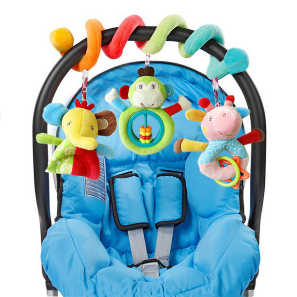 Wholesale- Baby Crib Toy Stroller Rattle Baby Toys Bedside bell Multifunctional Bed Hanging Learning education Toys for Gifts CX886176