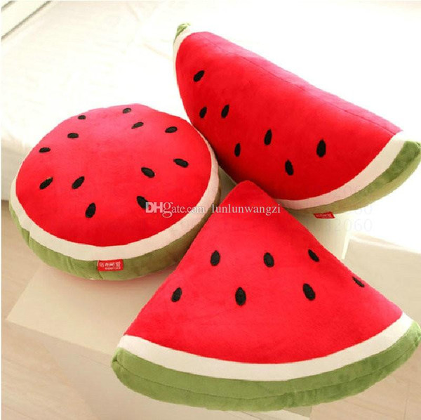 40--55cm 1 piece cartoon Watermelon pillow at home decorate Fruit plush toys birthday gift for Children kids toys